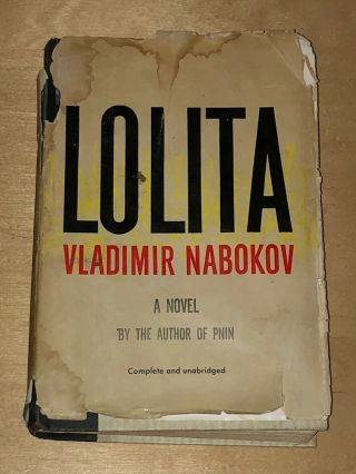 Lolita By Vladimir Nabokov 1955 Book 1st Edition 5th Printing Hc Dj Putnam Novel