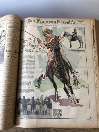 1923 July.  San Francisco Bound Newspaper Chronicle