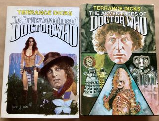 2 Books The Adventures Of Doctor Who Further Adventures Hc/dj Bce Terrance Dicks