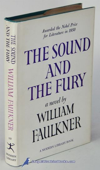The Sound And The Fury By William Faulkner Very Good,  Modern Library Hc/dj 83119