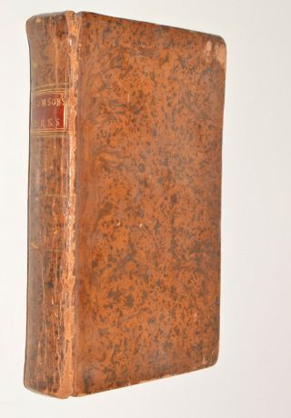 The Poetical Of James Thomson Leather Bound C1794 Engravings