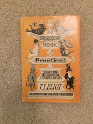 Old Possums Book Of Practical Cats T.  S.  Eliot Edward Gorey 1982 Hc/dj