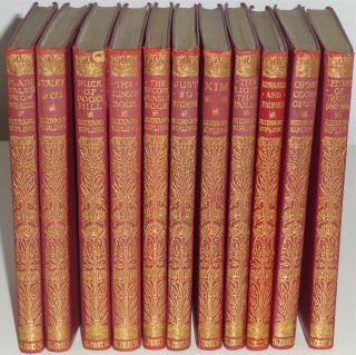The Jungle Books Just So Stories Rudyard Kipling Macmillan Leather Pocket 1924