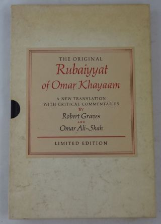 Robert Graves / The Rubaiyyat Of Omar Khayaam Signed 1st Edition 1968