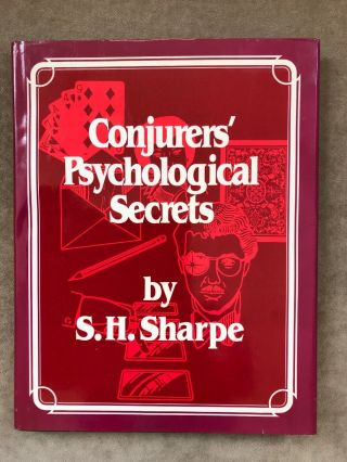 Conjurers Psychological Secrets - Sharpe First Edition 1988 Hades Magic Scarce