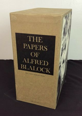 The Papers Of Alfred Blalock 1st Ed 2 Vol Signed