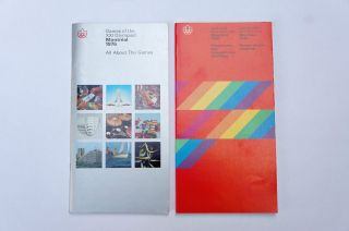 2 Official 1976 Montreal Olympics Booklets,  Publications: Competitions Program