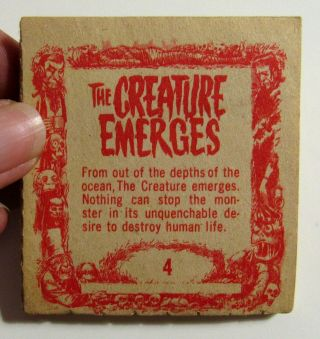 Vintage Horror Creature From The Black Lagoon Universal 1963 Miniature Flip Book