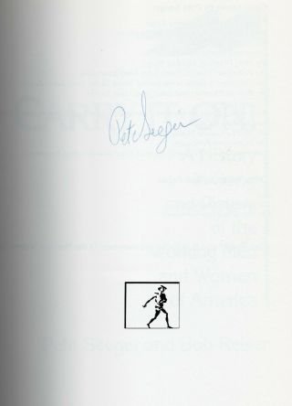 Carry It On Songbook Autographed By Pete Seeger