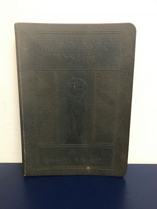 The Master Key System By Charles F.  Haanel 1919 Self Help Philosophy Esoter