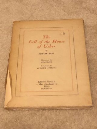 Edgar Allan Poe The Fall Of The House Of Usher Illustrations By Alastair No.  296