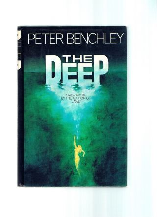Vintage Movie Tie - In The Deep Peter Benchley 1st Jaws Shark Week Ex Cond