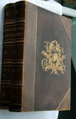 The Turner Gallery Magnificent 2 Volume Set 120 Large Full Page Steel Engravings