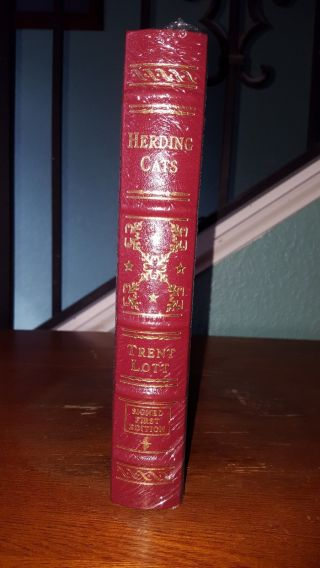 Easton Press Autographed Leather Bound Book