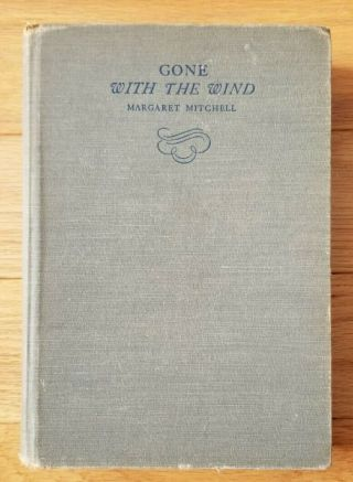 Gone With The Wind Book By Margaret Mitchell,  1st Edition,  Second Printing,  1936
