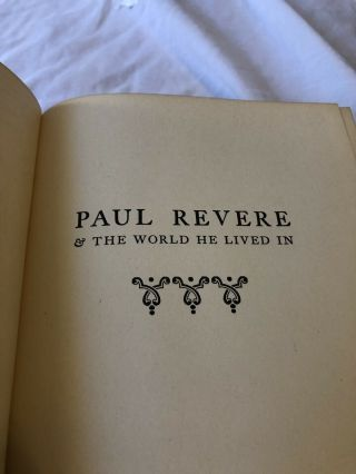 Paul Revere And The World He Lived In (esther Forbes - Hardcover