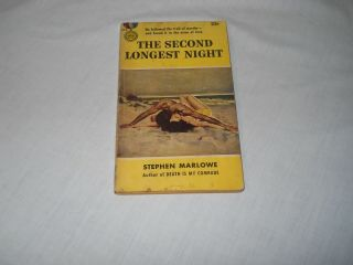 The Second Longest Night By Stephen Marlowe,  Gold Medal Book 1003 Printed 1960