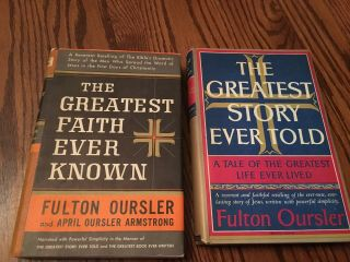 2:vtg 1949 Fulton Oursler:greatest Faith Ever Known & Greatest Story Ever Told