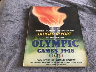 1948 London Olympic Games Official Report British Association Olympics Sport @