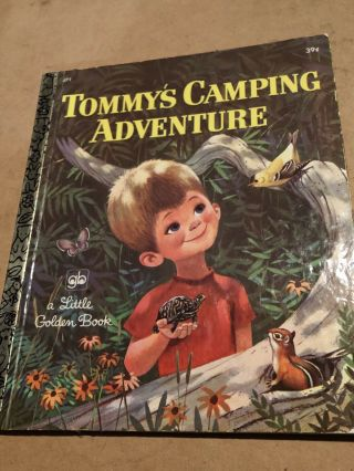 Tommy's Camping Adventure Little Golden Book 1972 3rd Printing Vg Fs