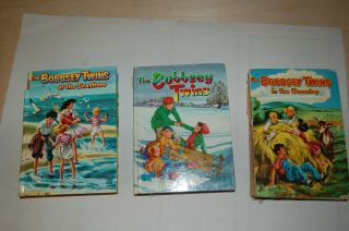 3 Vintage Whitman Books Bobbsey Twins,  At The Seashore,  In The Country