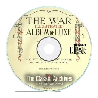 The War Illustrated Album Deluxe,  World War 1,  10 Volume Complete Set Pdf Cd E63