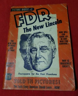 Vintage,  Book,  Fdr,  Lincoln,  Life And Times Of Roosevelt,  Promo,  War Photo,  Battle