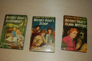 3 Vintage Beverly Gray Books - Gray