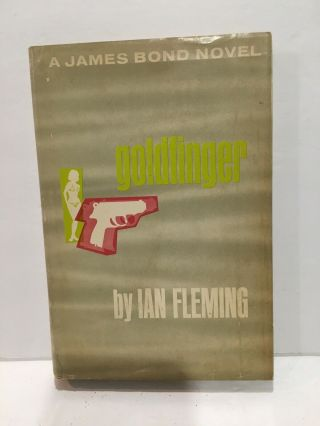 Ian Fleming - Goldfinger - 1959 Hardcover Book Dj 007 James Bond Gc