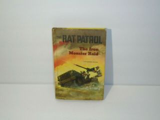 Vintage 1968 The Rat Patrol Iron Monster Raid Hardcover Whitman Book