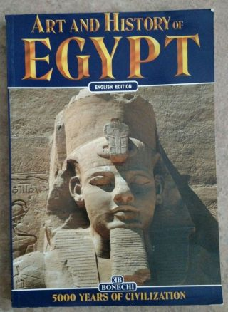 Vintage Art And History Of Egypt By Bonechi (1996,  Paperback) Book