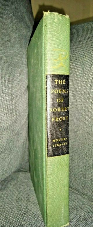 The Poems Of Robert Frost (1946) - Modern Library Edition Green Hardcover Book