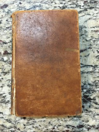 1844 American Common - School Reader & Speaker Goldsbury & Russell Leather Book