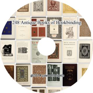 248 Antique Books Of Bookbinding From 16th To 19th Century On One Dvd