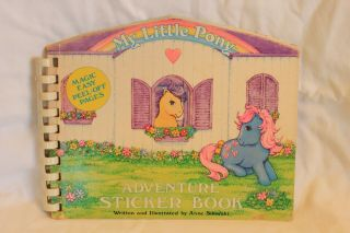 Vintage 1980s My Little Pony Adventure Sticker Book & Puffy Stickers Ships