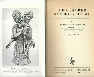 1933 James Churchward - Signed & Inscribed - Sacred Symbols Of Mu Lemuria