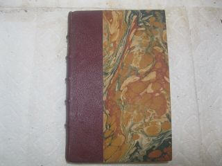 Vintage Leather Book The Chateaux Romances Printed In 1932 Illustrated