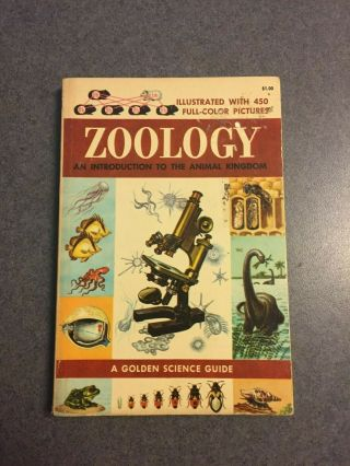 1958 A Golden Science Guide: Zoology Vintage Illustrated Paperback