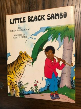 Vintage 1972 Little Black Sambo Helen Bannerman Hardcover
