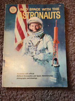 Vintage Into Space With The Astronauts Wonder Book Scharff 1965