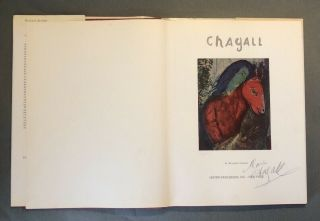 Marc Chagall Hand Signed Book