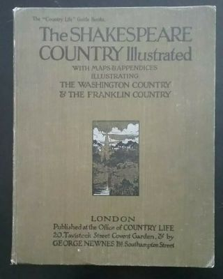 The Shakespeare Country Illustrated Maps Antique Literature Book By Leyland