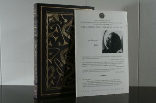 Jazz - Toni Morrison - Franklin Library Signed First Edition Leather W/promo