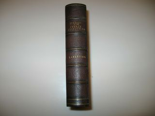 "Antique Leather Bound Book "" History Of The French Revolution "" Alphonse Lamartine"
