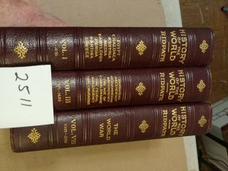 History Of The World Ridpath 1923 3 Volumes 1,  3,  8