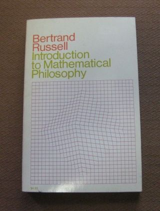 Introduction To Mathematical Philosophy By Bertrand Russell - 1st/4th Pb Nf