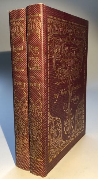 Washington Irving / Rip Van Winkle The Legend Of Sleepy Hollow 2 Volumes 1st Ed