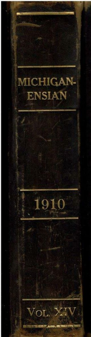 "1910 Vintage University Of Michigan "" Michiganensian "" Yearbook"