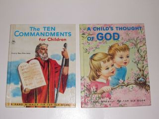 Vintage Religious Books For Children - Rand Mcnally Tip - Top Elf Books