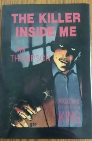 The Killer Inside Me By Jim Thompson Signed By Stephen King,  Collectors Book